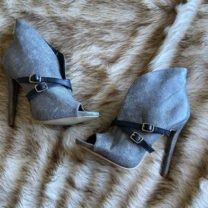NWOT JustFab Peeptoe Heeled Booties